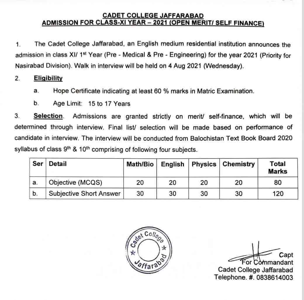 Cadet-College-Jaffarabad-Admission-Form-2021