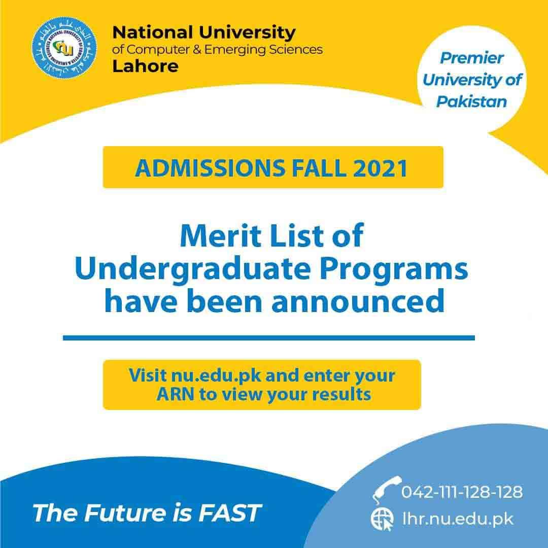 FAST-University-Merit-List-2021