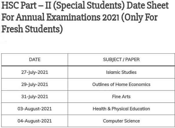 Karachi-Board-12th-Class-Special-Students-Date-Sheet-2021
