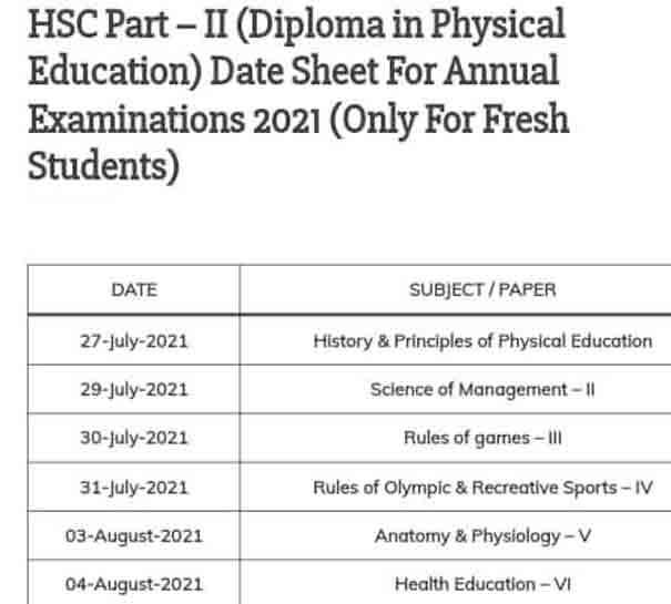 Karachi-Board-Diploma-in-Physical-Education-Date-Sheet-2021