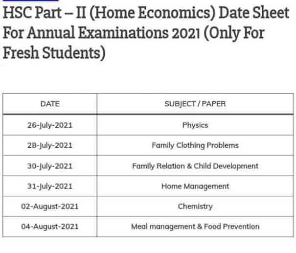 Karachi-Board-Home-Economics-Date-Sheet-2021