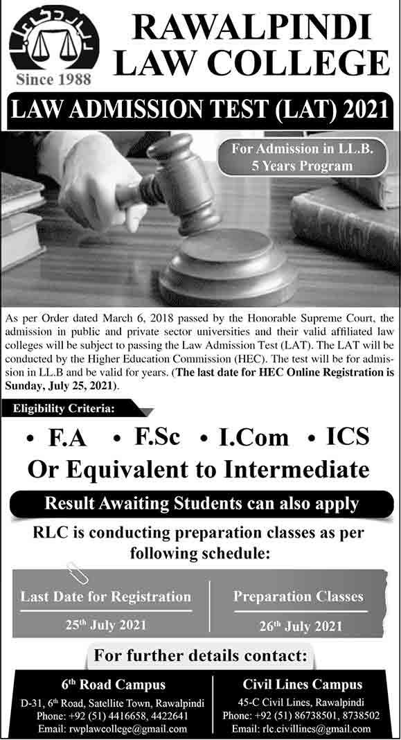 Rawalpindi-Law-College-Admission-2021