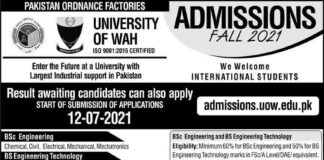 University-of-Wah-Admission-2021
